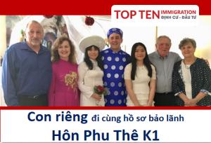 Con rieng di cung ho so bao lanh hon phu the K1 theo me