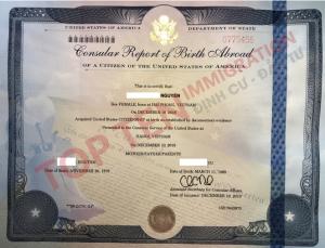 Làm quốc tịch Mỹ cho trẻ sinh tại VN